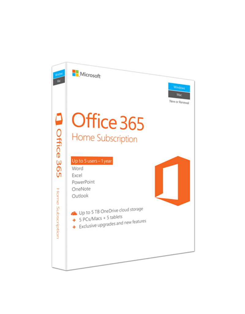 Microsoft Office 365 Enterprise E3 PCs, MACs, Tablets, Phone 1 Year 5 Users