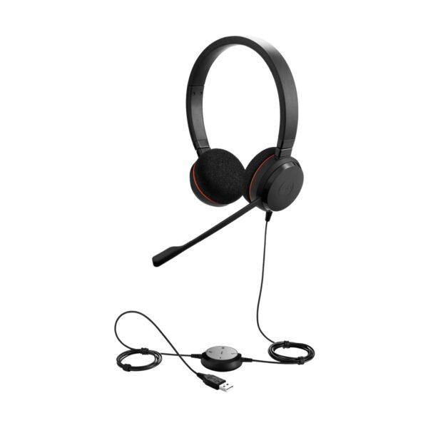 Jabra Evolve 20 DUO USB Black Headset