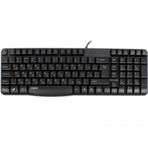 Rapoo N2400 USB Optical Black Keyboard with Bangla