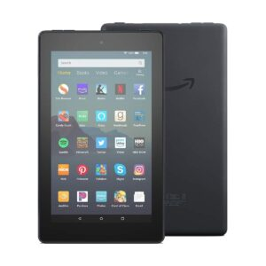 Amazon Fire 7 (9th Gen) (Quad Core 1.3 GHz, 1GB RAM, 32GB Storage, 7 Inch Display) Black Tablet with Alexa Apps