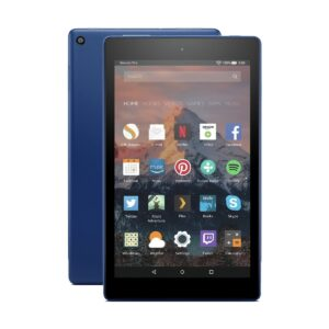 Amazon Kindle Fire HD 8 (Quad Core 1.3 GHz, 1.5GB RAM, 16GB Storage, 8 Inch HD Display) Marine Blue Tablet with Alexa
