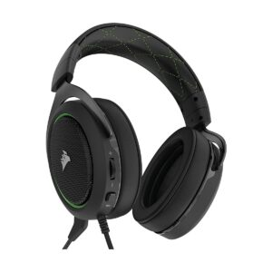 Corsair HS50 Wired Black Stereo Gaming Headset-Green (AP)