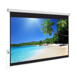 Super View 96 Inch x 96 Inch Electric Wall Projector Screen
