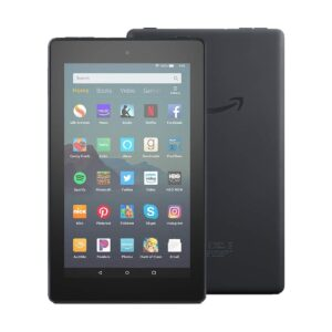 Amazon Fire 7 (9th Gen) (Quad Core 1.3 GHz, 1GB RAM, 16GB Storage, 7 Inch Display) Black Tablet with Alexa Apps