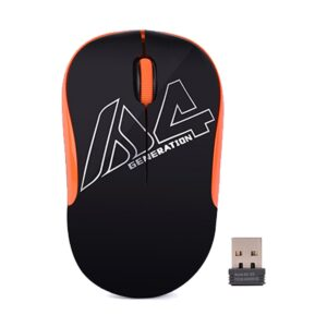 A4Tech G3-300N Black-Orange V-Track Wireless Mouse