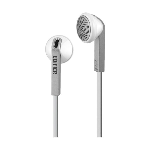 Edifier H190 Hi-Fi Sound Comfortable Fit Wired White Silver Earphones