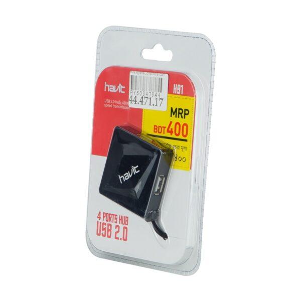 Havit H91 4 port Black USB 2.0 Hub