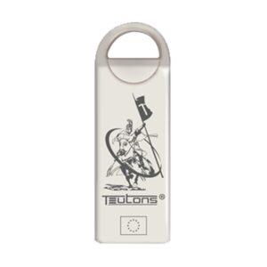 Teutons Metallic Knight Finder Silver 16GB USB 3.1 Gen 1 Flash Drive