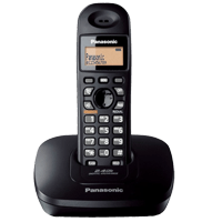 Panasonic KX-TG3411SX Cordless Black Phone Set