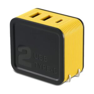 REMAX RP-U24 Kutry Series 2 Port USB & Type-c 3.4 A Yellow Adapter