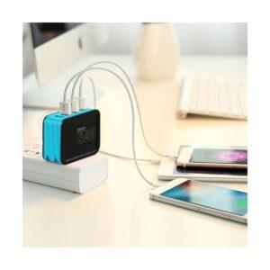 REMAX RP-U40 Kutry Series 4 Port USB 3.4 A Blue Adapter