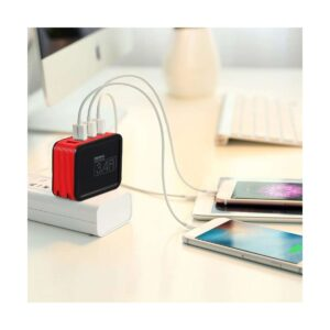 REMAX RP-U40 Kutry Series 4 Port USB 3.4 A Red Adapter