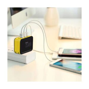 REMAX RP-U40 Kutry Series 4 Port USB 3.4 A Yellow Adapter