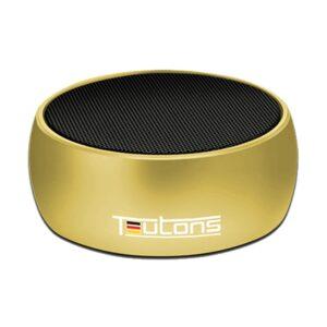 Teutons Simplicity 5W Metallic Bluetooth Gold Speaker