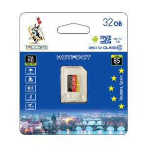 Teutons 32GB micro SDHC Class 10 UHS-I Memory Card