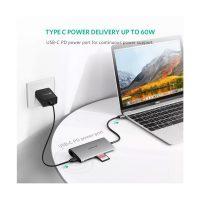 Ugreen USB-C to 3 x USB3.0+HDMI+RJ45+SD&TF Sliver Converter