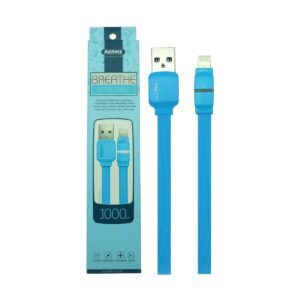 Remax USB Male to Lightning 1 Meter Blue Data Cable