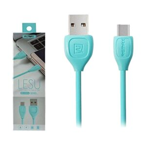 USB Male to Type-C, 1 Meter, Blue Data Cable