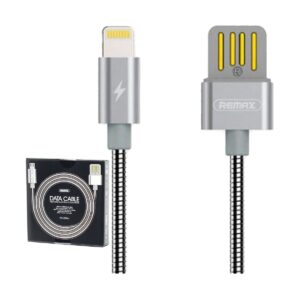 USB Male to Micro USB, 1 Meter, Silver Data Cable