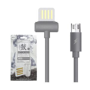USB Male to Micro USB, 1 Meter, Grey Data Cable