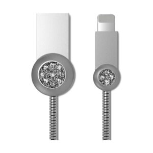 Remax USB Male to Lightning 1 Meter Silver Data Cable