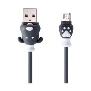 USB Male to Micro USB, 1 Meter, Black Charging & Data Cable