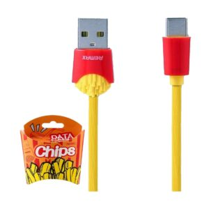 USB Male to Type-C, 1 Meter, Yellow Data Cable