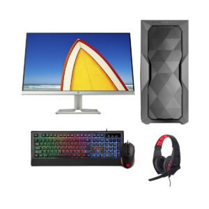 Gaming PC-Zi596K 9th Gen Intel i5 9600K 3.7GHz, Z390 Chipset, RTX2070 8GB Gr, 8GB DDR4 2666MHz, 2TB HDD + 256GB PCIe SSD, 24in Monitor, Gaming Headphone, Gaming KB and Mou