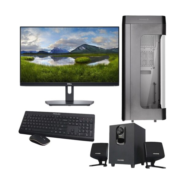 Gaming PC-i797K 9th Gen Intel Core i7 9700K 3.6GHz, Z390 Chipset, 16GB 3200MHz, 256GB SSD + 2TB HDD, RTX2070 8GB Gr, 21.5in Monitor, Gaming Headphone, Gaming KB and Mou