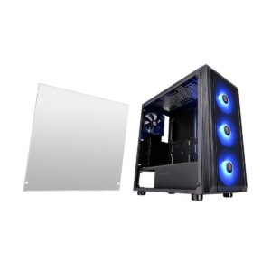 Thermaltake Versa J23 TG Tempered Glass Side Window Mid Tower Black Desktop Case