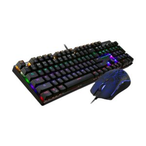 Motospeed CK666 Backlight Wired Mechanical Black Gaming Keyboard & Mouse Combo