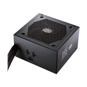 Brand Cooler Master Model Cooler Master MWE 550W V2 Type ATX 12V Ver. 2.52 PSU Category Non Modular Maximum power WT 550 Watt Input Voltage 200-240Vac Input Frequency Range 50-60Hz Input current 5A Over Voltage Protection Yes Efficiency 80 Plus White Certified Fan Size Yes, 120mm ATX Main Connectors 1 EPS Connectors 1 PCIe Connectors 2 SATA Power Connectors 6 4-Pin Peripheral Connectors 3 Dimensions 150 x 86 x 140mm Part No MPE-5501-ACABW-IN Others PFC: Active PFC, 85% Typically EFFICIENCY, 80 PLUS STANDARD 230V EU CERTIFIED POWER SUPPLY, 120mm HDB Fan, Silent Mode, Flat Black Cables Warranty 3 year