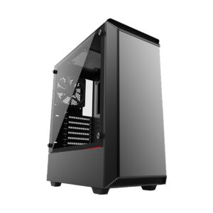 Phanteks Eclipse P300 Mid Tower (Tempered Glass Side Window) Black Gaming Casing