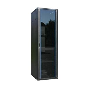 Toten 32U 600x1000 Standing floor server cabinet with toughened glass front door and vanted plate rear door with 1 x 6port PDU, 4 x Fan (2 Pc Module), 2 x Tray (1 x Fixed, 1 x Slide)