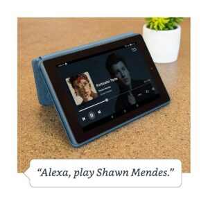 Amazon Fire 7 (9th Gen) (Quad Core 1.3 GHz, 1GB RAM, 32GB Storage, 7 Inch Display) Twilight Blue Tablet with Alexa Apps