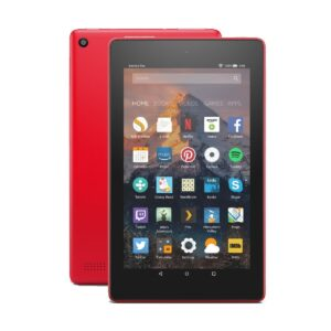 Amazon Kindle Fire HD 8 (Quad Core 1.3 GHz, 1.5GB RAM, 16GB Storage, 8 Inch HD Display) Punch Red Tablet with Alexa