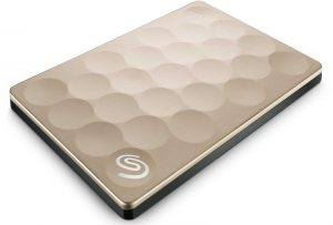 Seagate STEH1000301 Backup Plus Ultra Slim 1TB USB 3.0 Gold External HDD