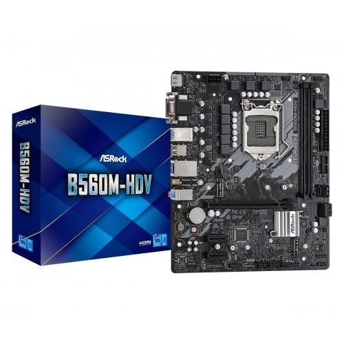 ASRock B560M-HDV 10th and 11th Gen Micro ATX Motherboard