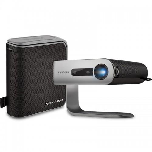 ViewSonic M1+_G2 300 Lumens Smart LED Portable Projector with Harman Kardon Speakers