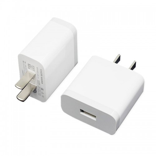 Xiaomi MI 3A 1 Port USB 2 Pin Charging Adapter White
