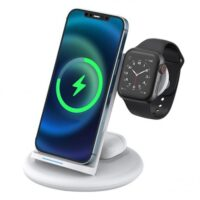 WiWU Power Air 3 In 1 18W Wireless Charger for Apple Watch, Phones and Earpods