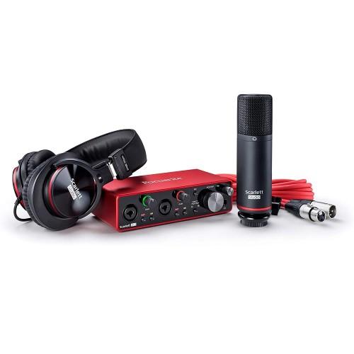 Focusrite Scarlett 2i2 Studio 3rd Gen USB Audio Interface and Recording Bundle