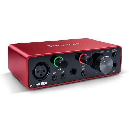Focusrite Scarlett Solo 3rd Gen USB Audio Interface Focusrite Scarlett Solo 3rd Gen USB Audio Interface Focusrite Scarlett Solo 3rd Gen USB Audio Interface